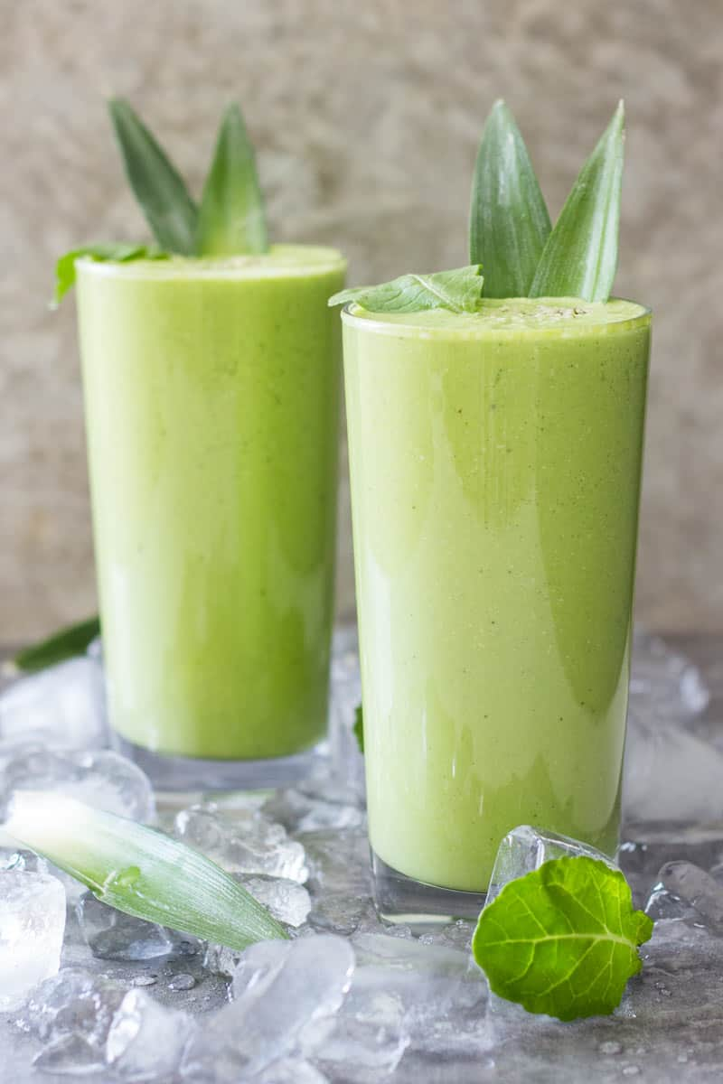 Pineapple Kale Post Workout Smoothie!