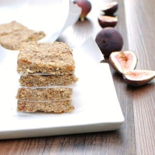 Fig Energy Bars and Fresh Black Mission Figs