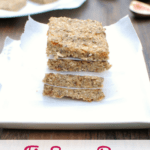 These fig energy bars are a great make ahead snack! Just 7 clean, whole food ingredients and no added sugar.