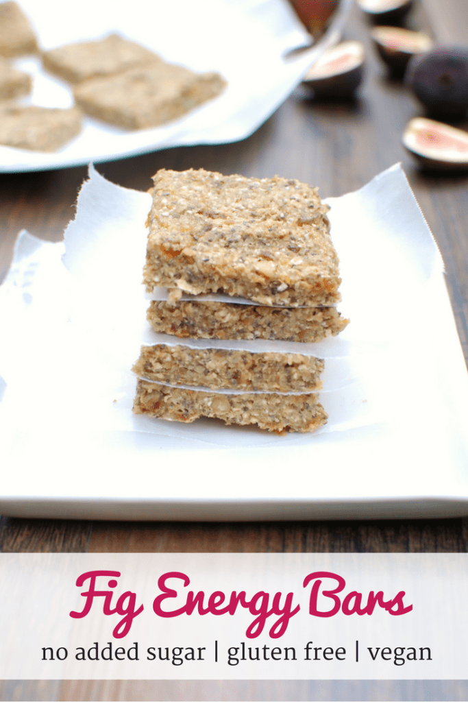 Fig Energy Bars {No Bake + No Added Sugar!}