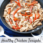 This healthy chicken teriyaki recipe features an easy homemade teriyaki sauce that's sweetened lightly with fresh pineapple and honey!