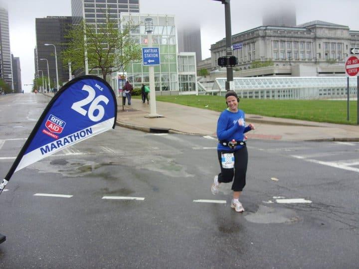 Chrissy Carroll Running a Marathon