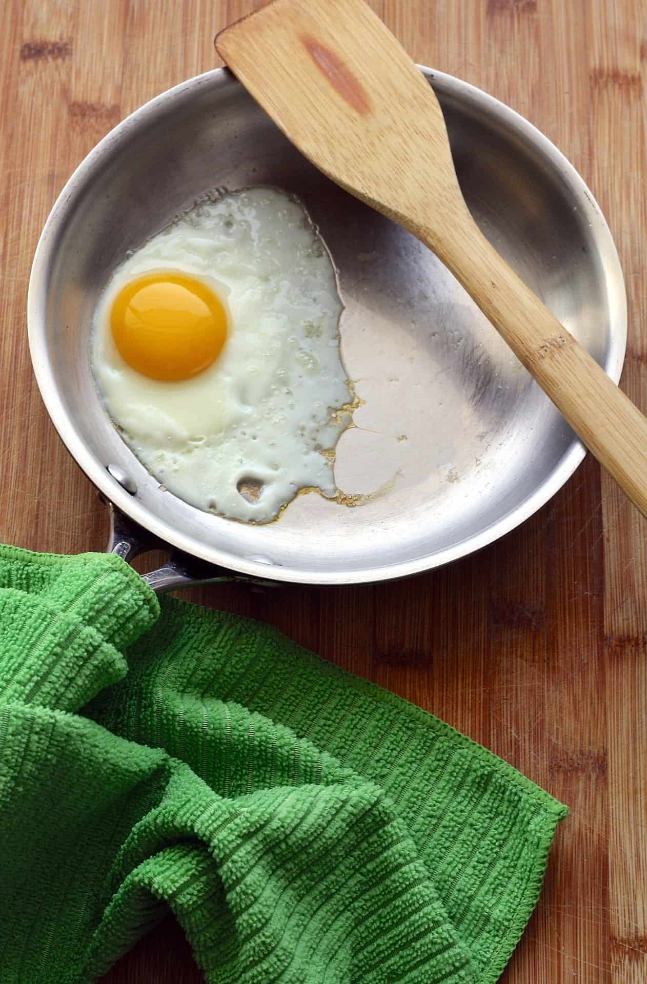 Egg in a pan