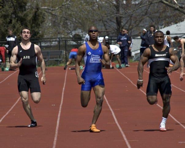 Sprinter Running in a Race