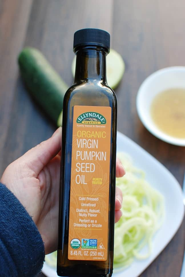 NOW Foods Pumpkin Seed Oil makes a delicious dressing.