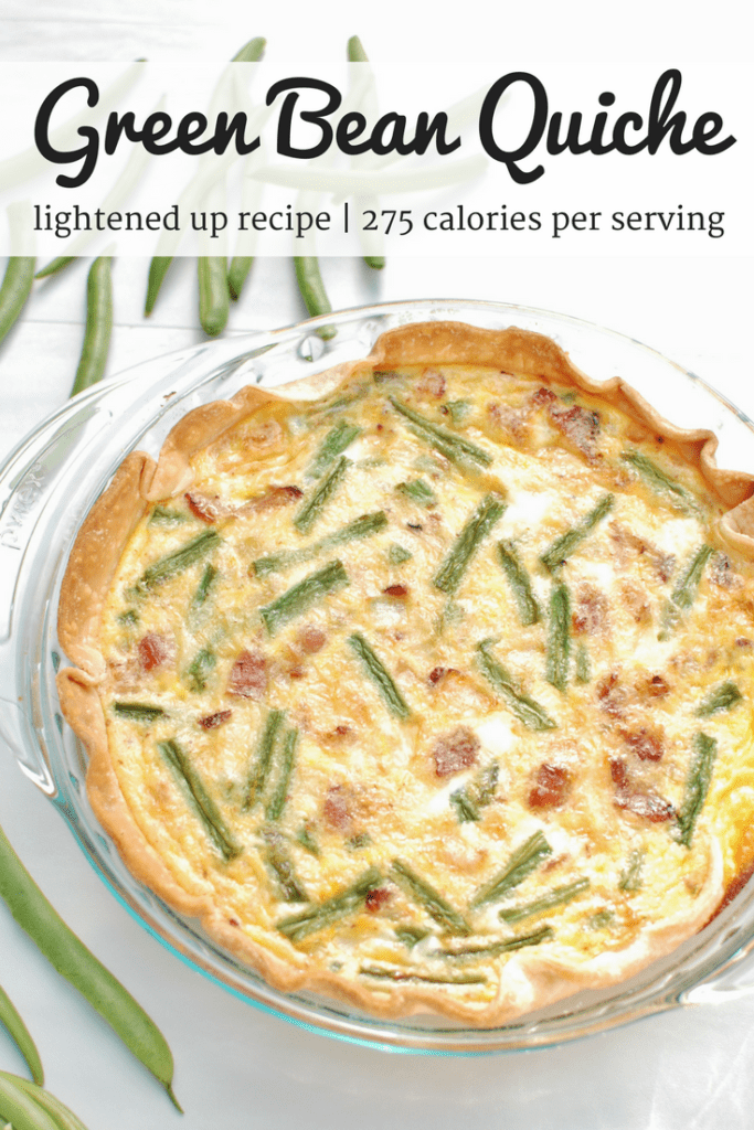 This easy quiche is made with just 8 ingredients! Plus, it's a relatively healthy quiche, made using milk rather than half and half or cream, and loaded with nutrient-rich green beans.