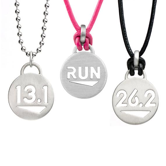 Running necklaces for a holiday gift guide.