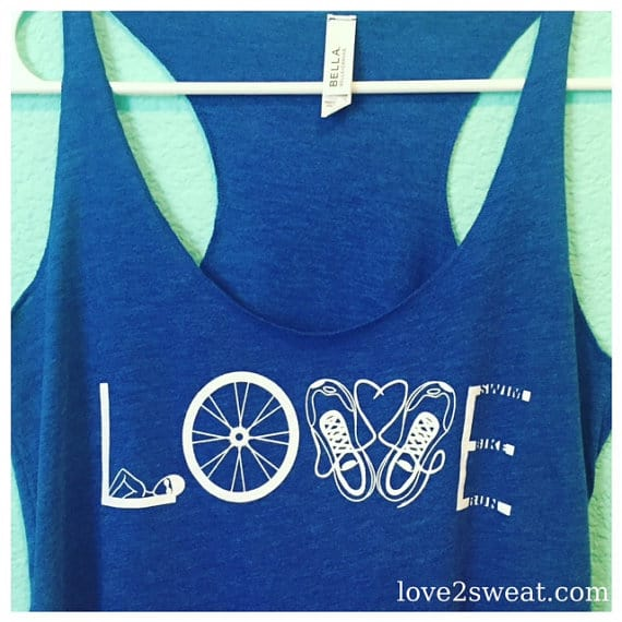 LOVE triathlon tank top for Christmas Gift