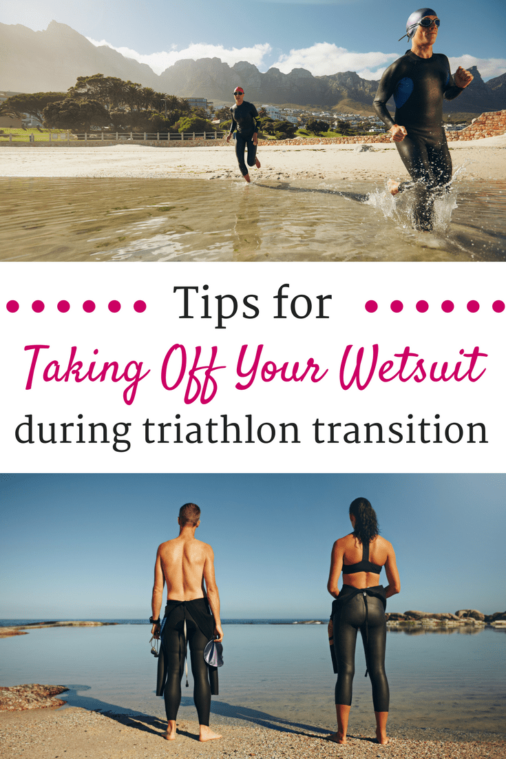 If you're training for a triathlon, you may be interested in these tips about the best way to remove your wetsuit during the transition from swim to bike.