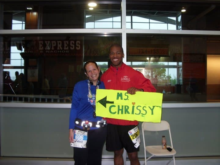 Nurturing Relationships by Supporting Each Other at Road Races, like this photo from the Cleveland Marathon