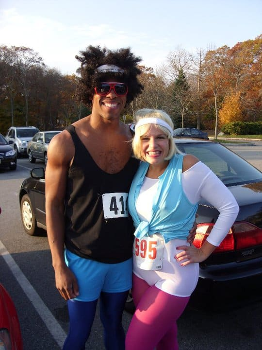 Halloween 5K in 80s Aerobics Instructor Costumes