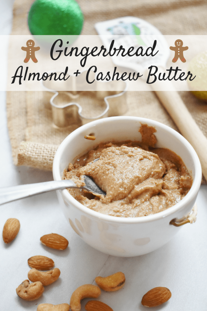 Homemade Gingerbread Nut Butter