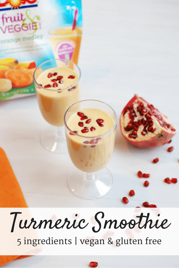 This turmeric fruit smoothie is a delicious and nutritious way to kick off your morning!
