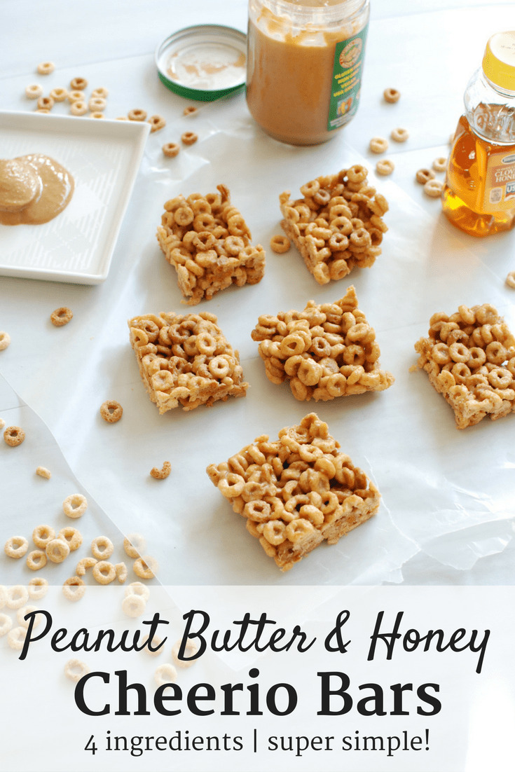 These peanut butter honey cheerio bars are a perfect snack to satisfy your sweet tooth!