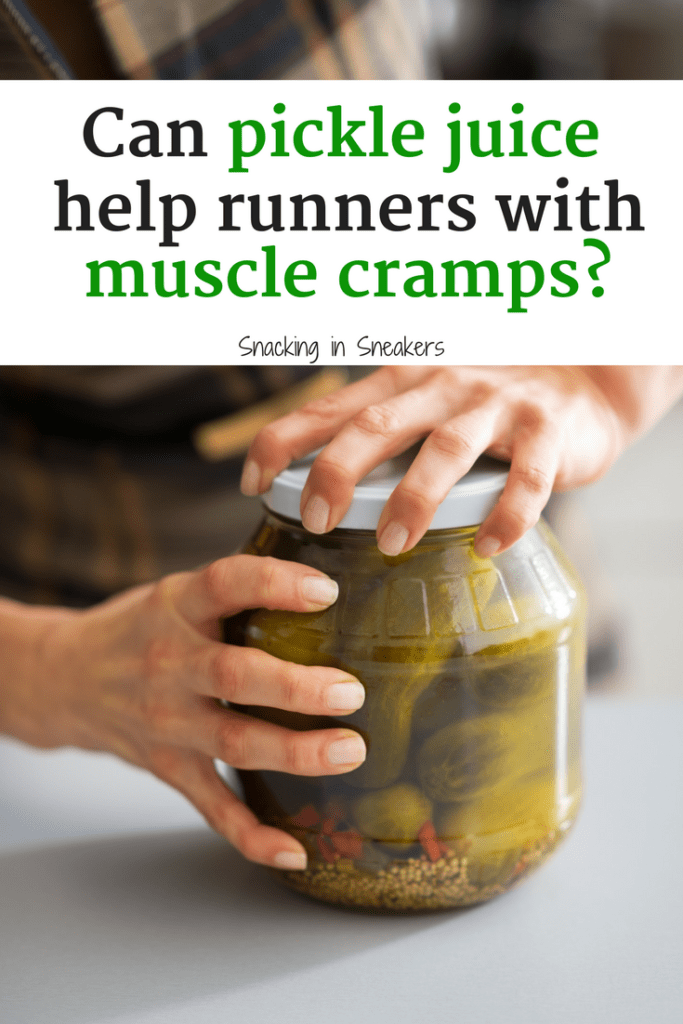 Learn about the latest trend for muscle cramps - pickle juice for runners!