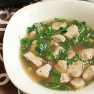 Bowl of pork watercress soup