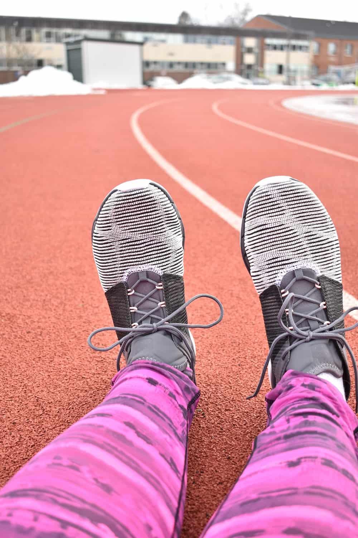 Reebok Fast Flexweave Sneakers on a Track