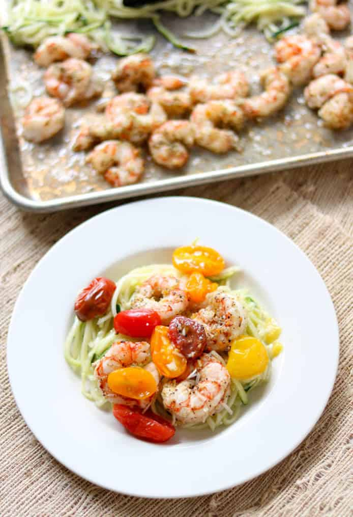 Citrus Shrimp and Zoodles Sheet Pan Meal