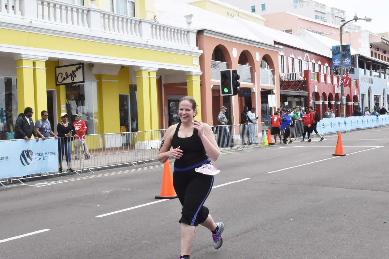Runner in World Triathlon Bermuda Event