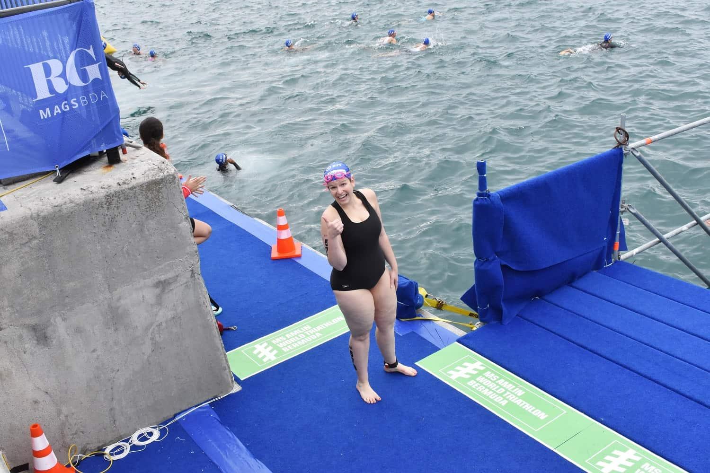 Swim Start at World Triathlon Bermuda