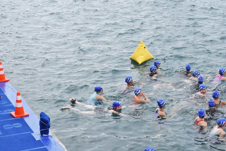 World Triathlon Bermuda age group swim start