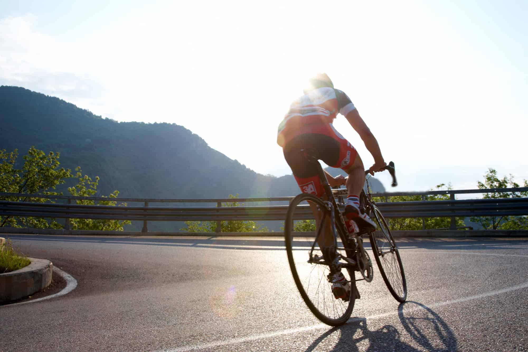 cyclist on a sunny day