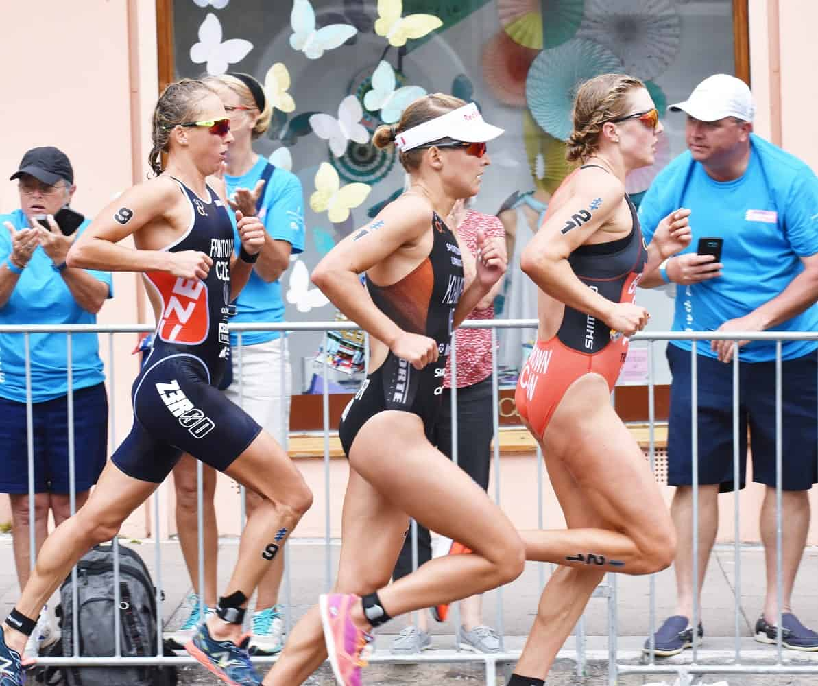 Female triathletes at World Triathlon Bermuda