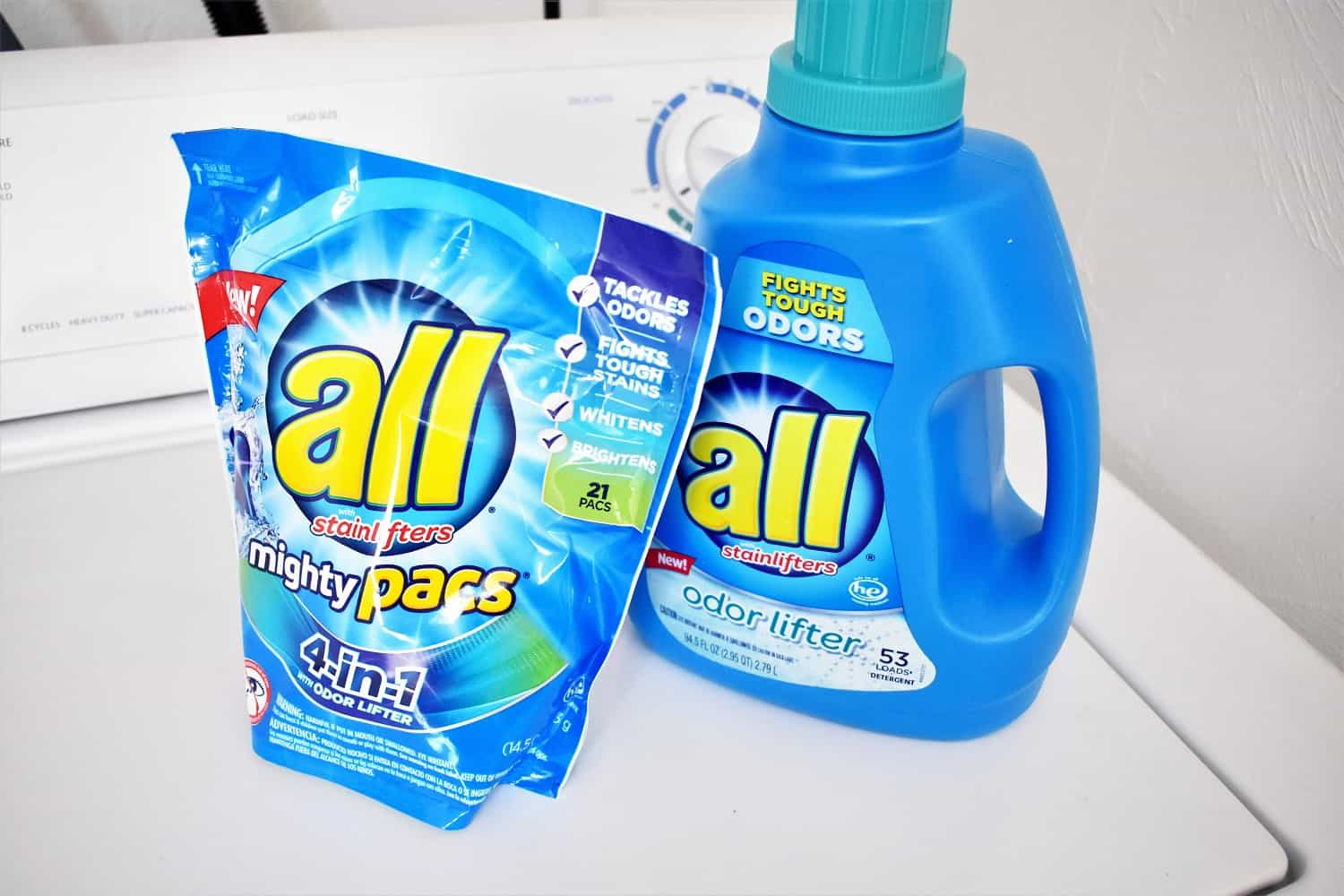 Two packages of all laundry detergent