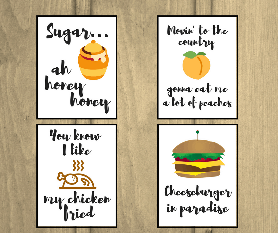 food printables with song lyrics for the kitchen