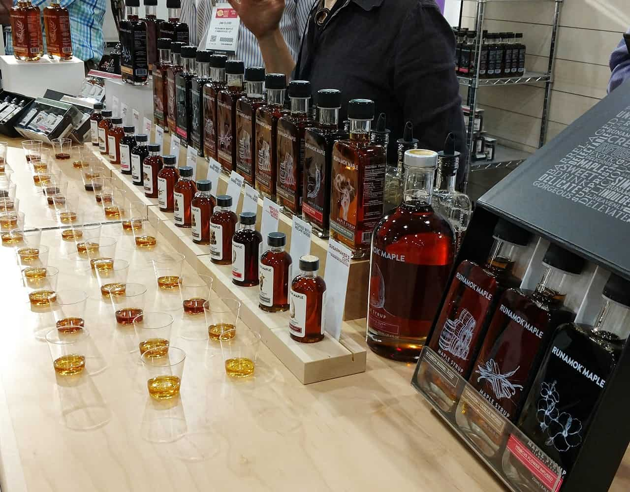 Samples of Runamock Maple Syrup at the Fancy Food Show