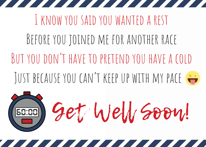 Get Well Soon Poem for Athletes