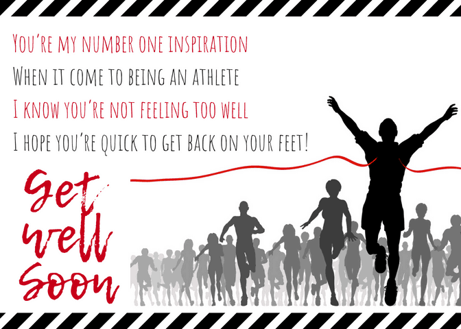 Get Well Soon Poem for Athlete