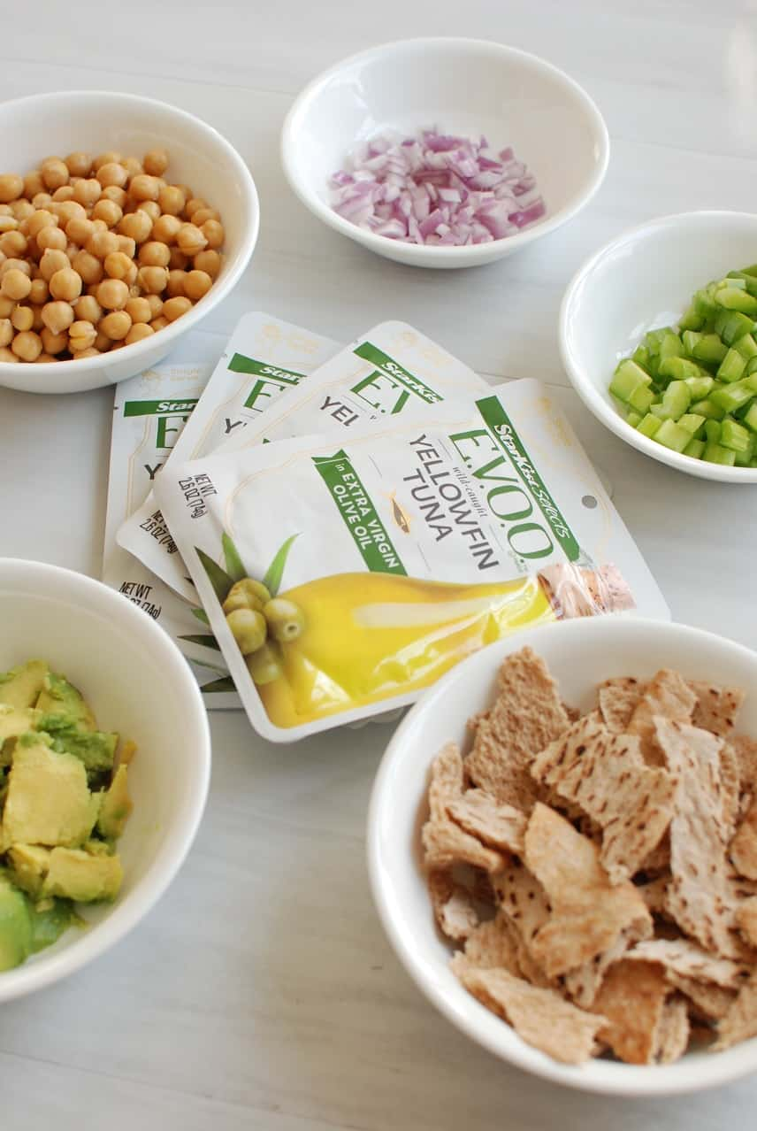Chickpea tuna salad ingredients