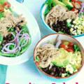 Bowls full of delicious carnitas salad