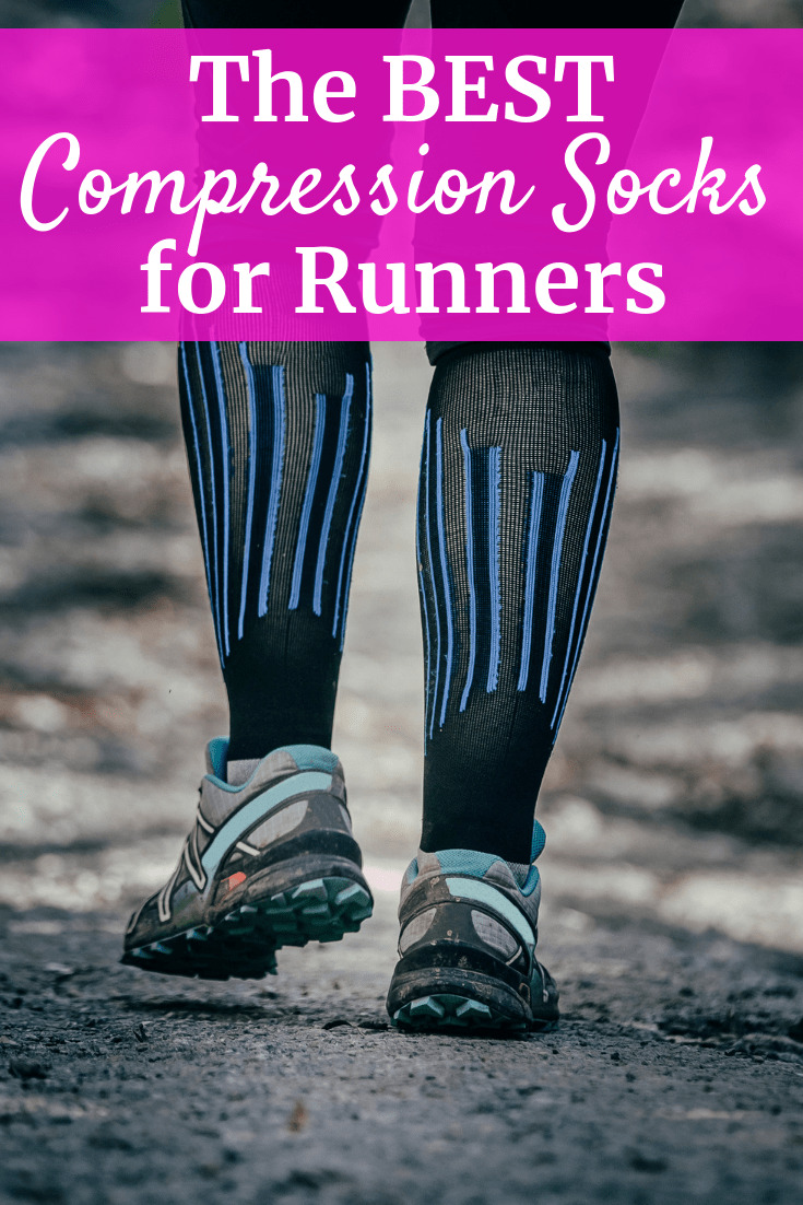 A pair of legs getting ready for running with compression socks