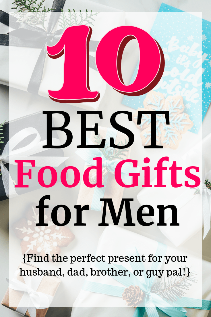 56ea6e53a33a A bunch of wrapped presents with a text overlay about food gifts for men