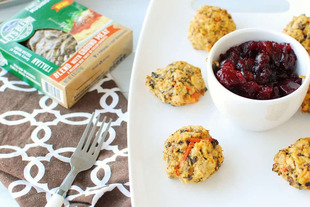 Leftover turkey meatballs with cranberry sauce