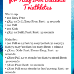 a visual of a swim workout for half ironman triathletes