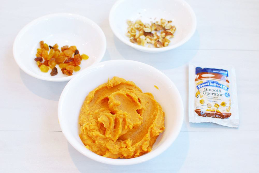 ingredients to make a sweet potato breakfast bowl