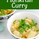 Thai Monkfish Curry in a bowl