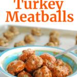 A bowl full of buffalo turkey meatballs