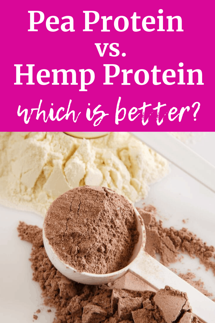A scoop of pea protein and hemp protein