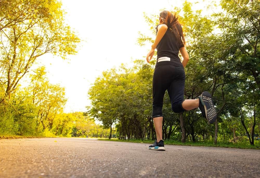 A 5k runner training outside