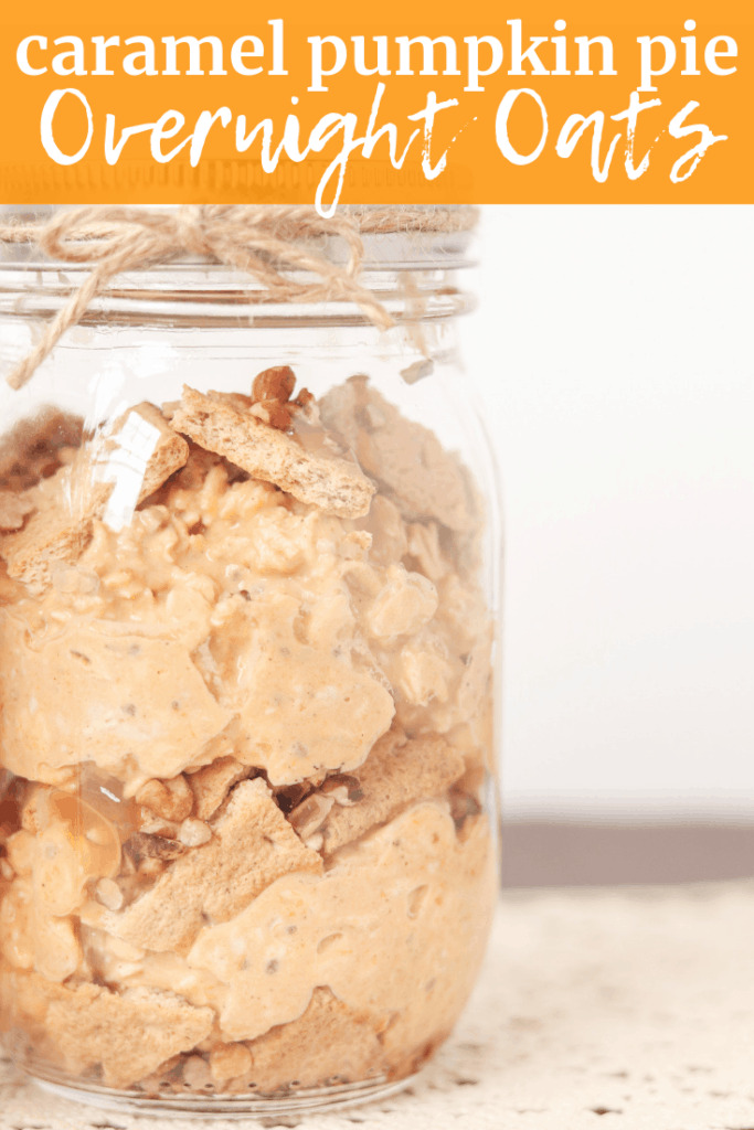 pumpkin overnight oats in a mason jar