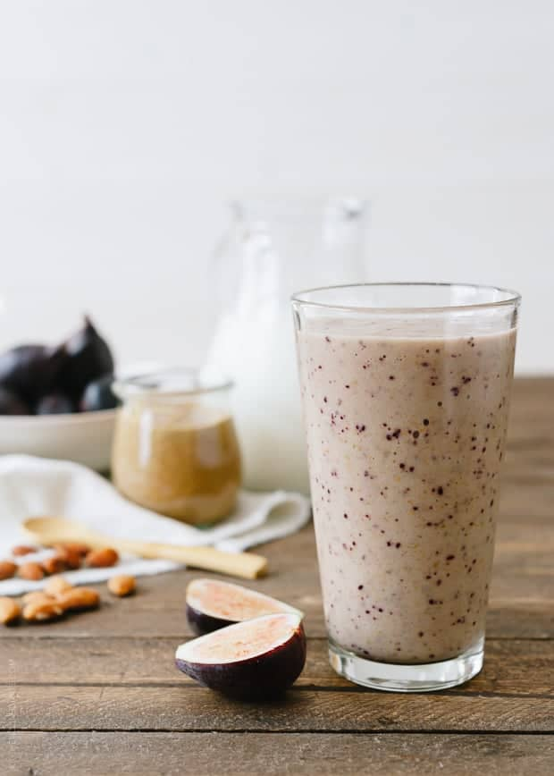 fig almond butter fall smoothie