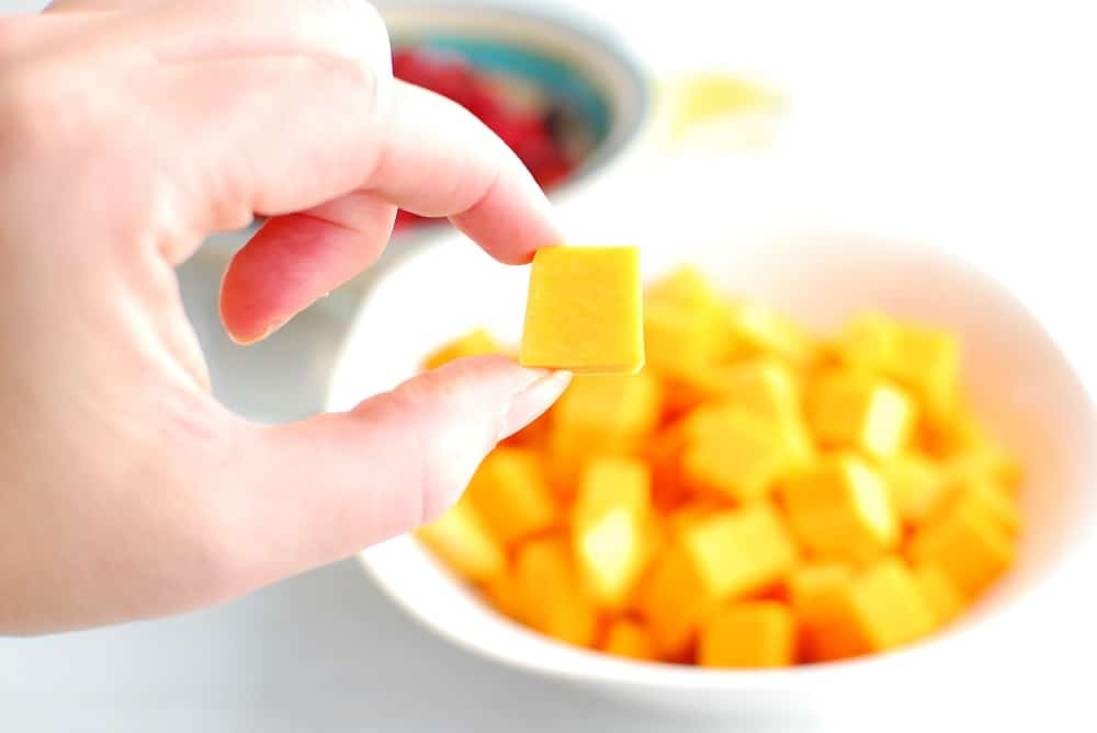 Small chopped pieces of butternut squash