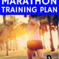 a female runner outside training for a sub 4 hour marathon