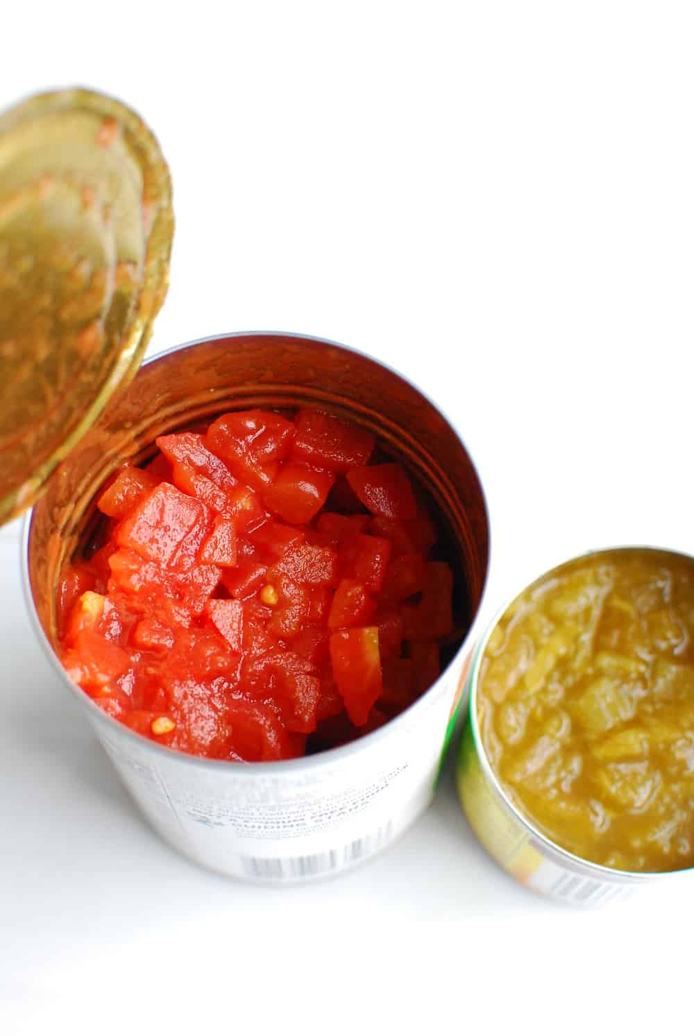 canned tomatoes and canned green chiles