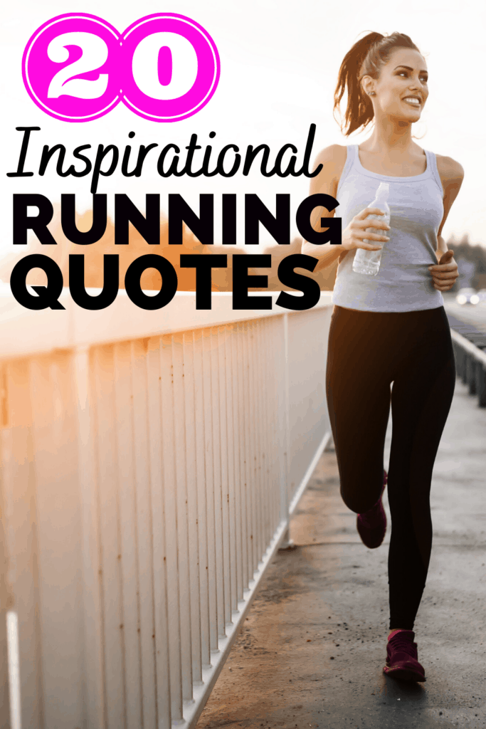 a woman running outside, inspired by running quotes