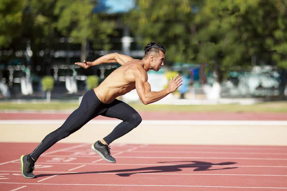 a male sprinter on the track
